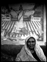 Old Woman with Mural